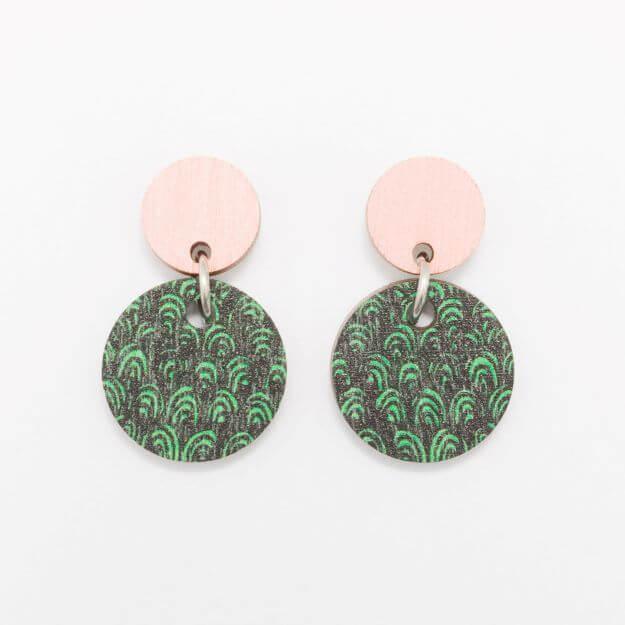 Wooden Tilkku Earrings Unique Ella Jewellery Scandi Design