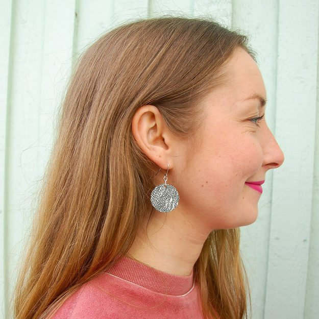 Wooden Bud Design Drop Earrings in Unique Ella Jewellery